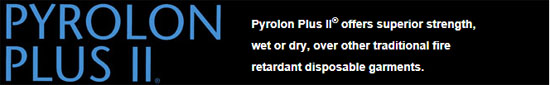Pyrolon Plus II Coveralls With Hood, Boots, & Elastic Wrists and Ankles
